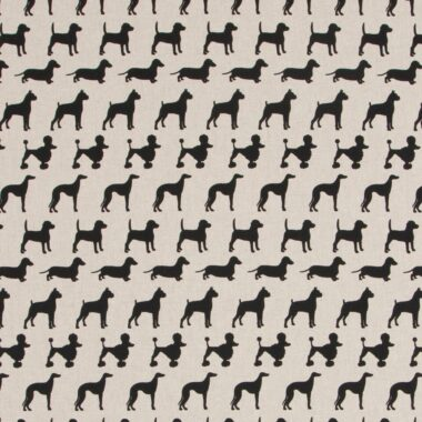 Doggy Linen Canvas Fabric
