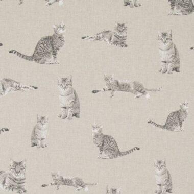 Cats Linen Canvas Fabric