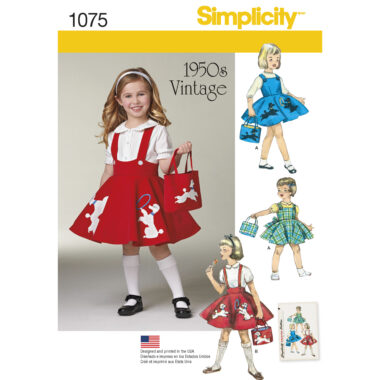 Simplicity 1075 Childs Sewing Pattern