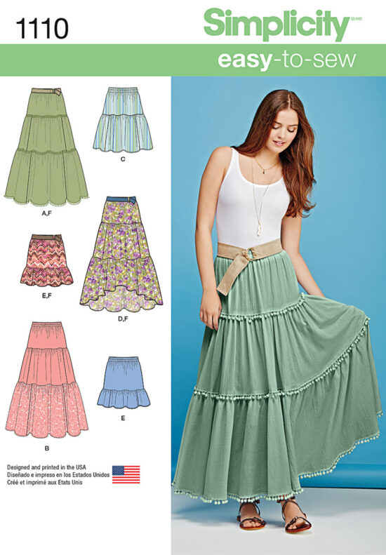 Simplicity 1110 Skirt Sewing Pattern