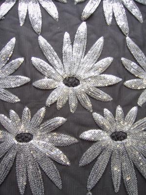 Azores Sequin Flower Sparkle Fabric
