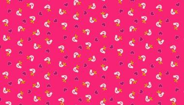 Papillon Birds Makower Fabric