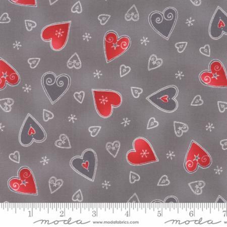 Jol Hearts Moda Scandinavian Nordic Fabric