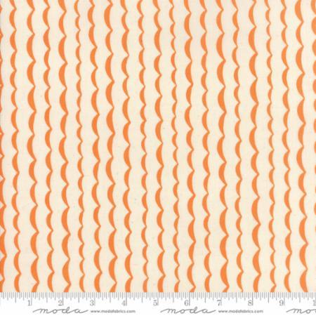 Persimmon Wave Yucatan Fabric Annie Brady Moda