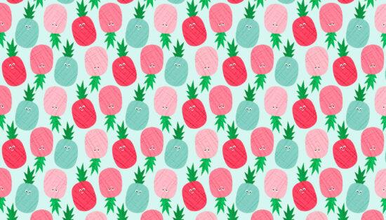 Fruity Friends Pineapple Makower Fabric