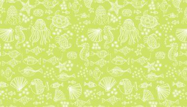 Merryn Tonal Mermaid Makower Cotton Fabric