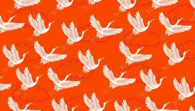 Kimono Makower Cranes Cotton Fabric