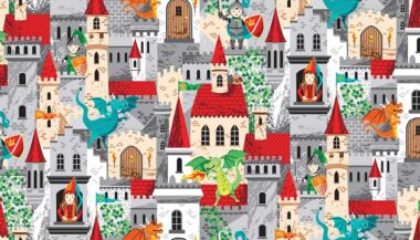 Dragonheart Castles Makower Fabric