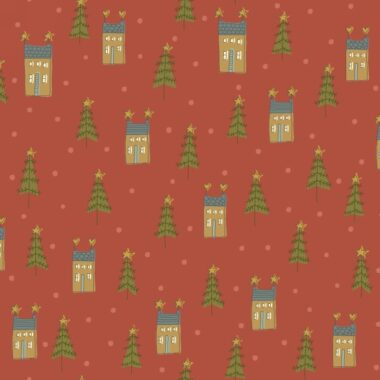 Home For Christmas Houses Anni Downs Fabric