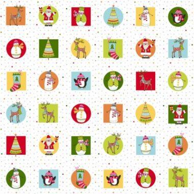 Festive Placemat Makower Christmas Fabric