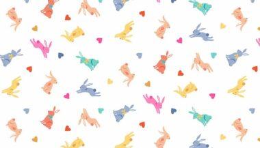 Spring Makower Rabbits Fabric
