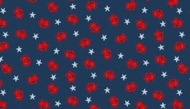 Sail Away Crabs Makower Cotton Fabric