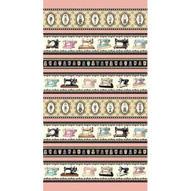 Thimble Pleasures Border Stripe Dan Morris Fabric