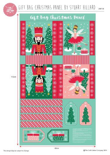 Nutcracker Gift Bag Panel Stuart Hillard Christmas