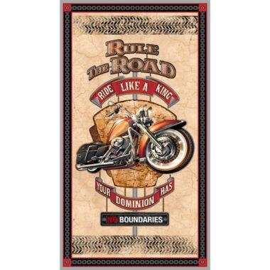 Rule The Road Panel Jeff Wack Quilting Treasures