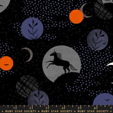 Ruby Star Society Crescent Novelty Unicorn Moon Moda Cotton Fabric