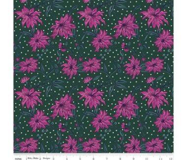 Liberty Fabric Poinsettia Seasons Greetings