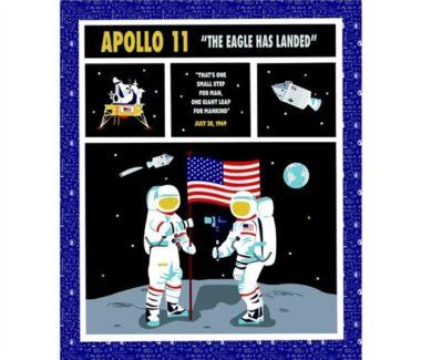 Apollo 11 The Eagle Has Landed Riley Blake Panel