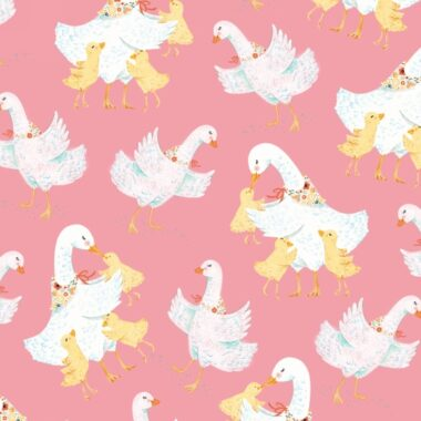 Ducky Tales Mother Duck Lucie Crovatto Fabric