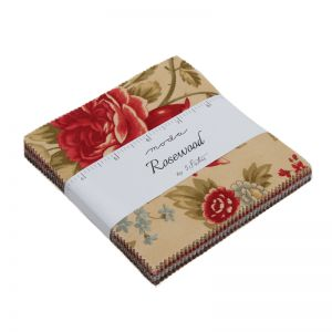 Rosewood 3 Sisters Moda Charm Pack