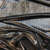 Reflections Bronze Rib Stretch Dress Fabric