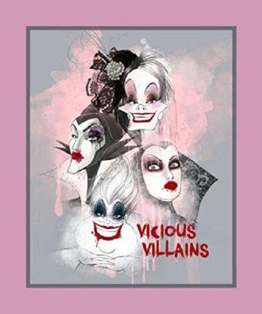 Disney Vicious Villains Quilting Panel