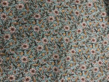 Freckle Green Viscose Twill Dress Fabric