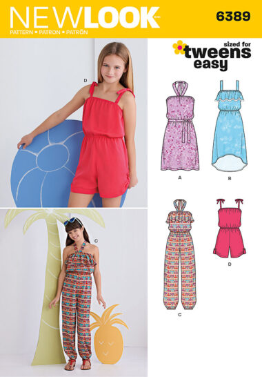 New Look 6389 Girls Sewing Pattern