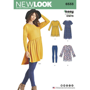 Womens 6533 New Look Womens Babydoll Sewing Pattern