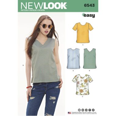 New Look Pattern 6543 Womens Easy Tops