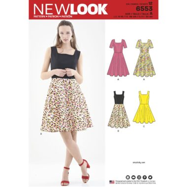6553 New Look Fit and Flare Dress Sewing Pattern