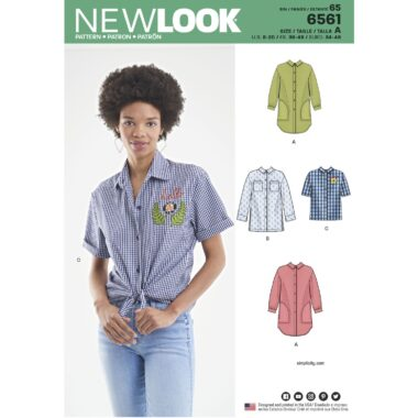 New Look Pattern 6561 Womens Shirts in Three Lengths