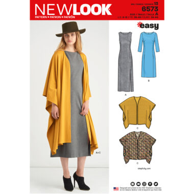 New Look Pattern 6573 Misses Dress and Wrap