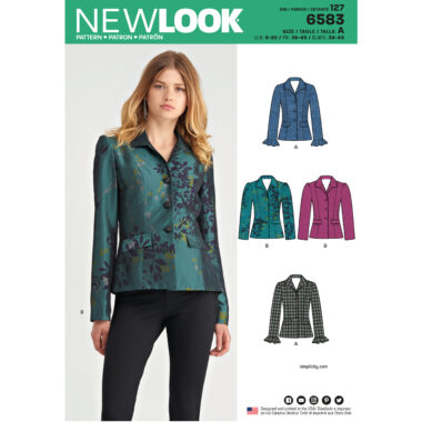 New Look Pattern 6583 Misses Lined Jacket