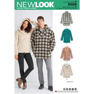 New Look Pattern 6588 Unisex Tops
