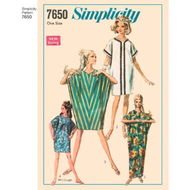 7650 Simplicity Womens Dress Sewing Pattern