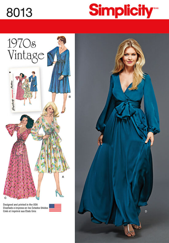 Simplicity 8013 1970's Sewing Pattern