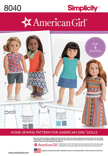 Simplicity 8040 Sewing Pattern