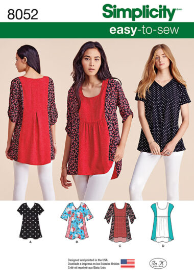 Simplicity 8052 Top Sewing Pattern