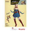 Simplicity 8185 Supergirl Sewing Pattern