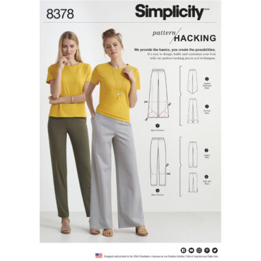Simplicity 8378 Sewing Pattern