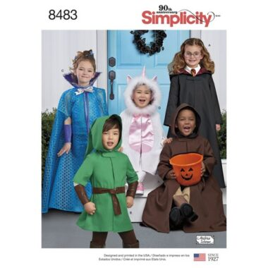 Simplicity 8483 Cape Costumes Sewing Pattern