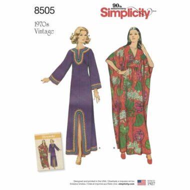 Simplicity 8505 Vintage Kaftan Sewing Pattern