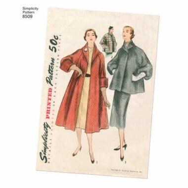 Simplicity 8509 Vintage Coat/Jacket Sewing Pattern
