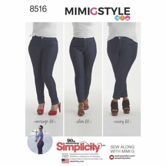 Simplicity 8516 Skinny Jean Sewing Pattern