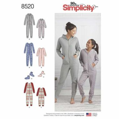 Simplicity 8520 Tracksuit Sewing Pattern