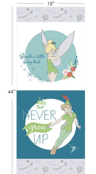 Peter Pan Half Panel in Blue Disney Fabric