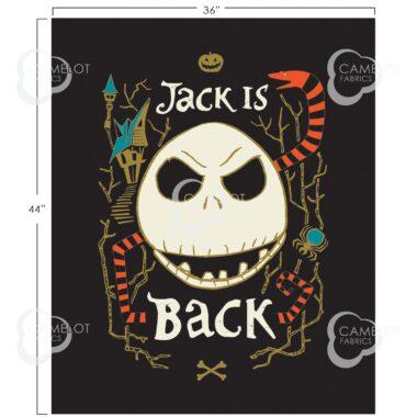 Jack Is Back Panel Disney Nightmare Before Christmas Fabric