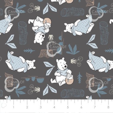 Disney Blankets and Hunny Wonder and Whimsy Pooh Bear Fabric
