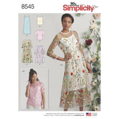Simplicity Pattern 8545 Women's / Petite Women's Dress and Top